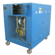 This 250-Volt Resistive/Reactive Load Bank provides the capability to apply up to 130.5 kW resistive and reactive load (3-phase, 200/115 VAC) to the aircraft generator on test. Local interface allows for manual load step control, or integral PLC with Modbus link allow the load bank to be controlled via remote computer system.
